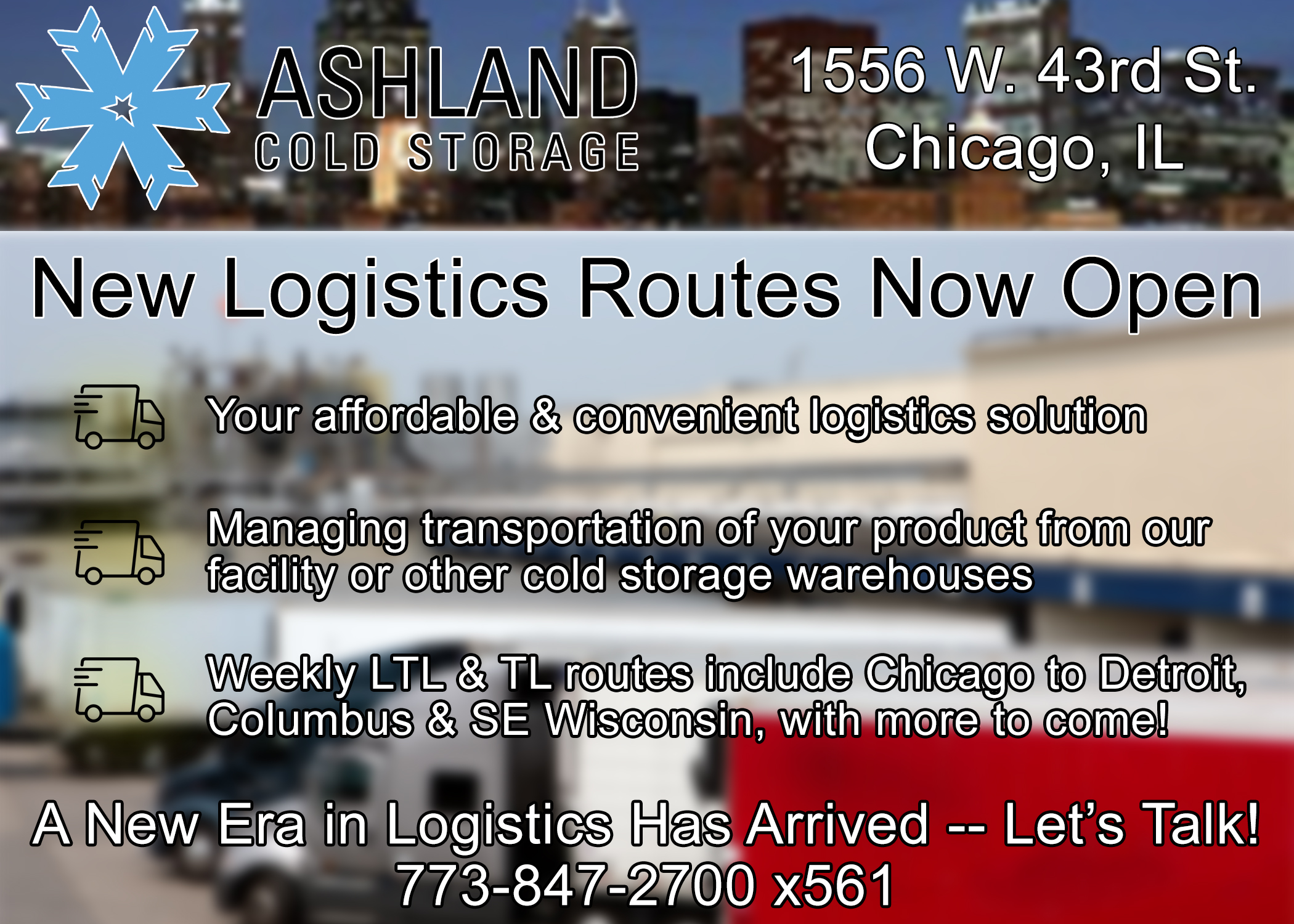 This Picture Explains Information about Our New Logistics Routes